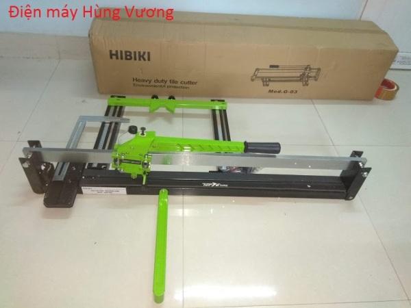 Máy cắt gạch siêu cứng bàn đẩy Hikari 3388 (cắt 82cm), xuất xứ Thái lan, 1 gióng 15mmx 45mm, có bình bơm bôi trơn .