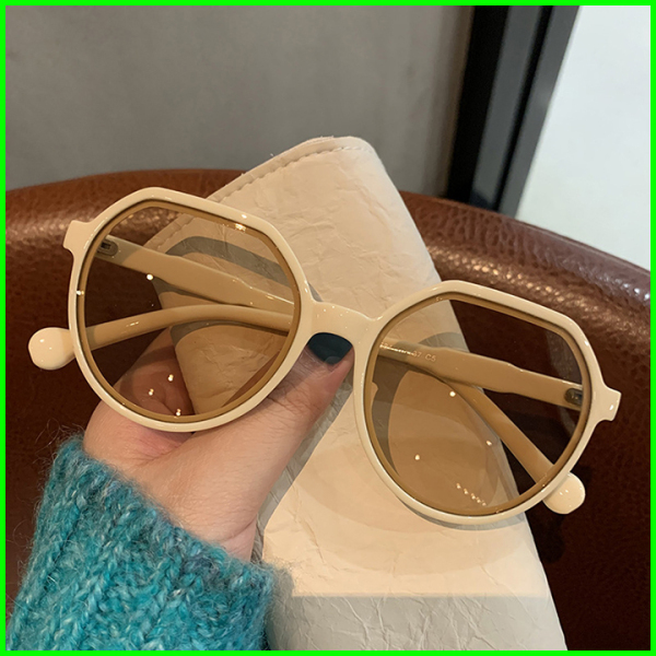 Giá bán Mắt kính nữ thời trang 2021, kính mát nữ hot trend tiktok gọng nhựa màu trắng, đen, nâu