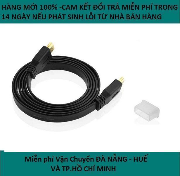 Dây cáp 2 đầu HDMI Full HD 1,5m (Đen)-Dây HDMI 1,5M Dẹt