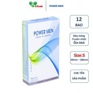 Bao cao su POWER MEN TIGHTER & ULTRATHIN siêu mỏng siêu truyền nhiệt thiết kế ôm sát 3D hộp 12 chiếc thumbnail