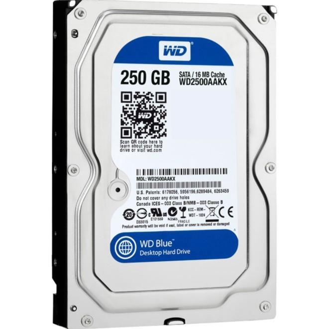 Ổ Cứng HDD 250GB Western Blue - Nhập Khẩu Tháo Máy đồng Bộ  - Bảo Hành 6 Tháng Giảm Duy Nhất Hôm Nay