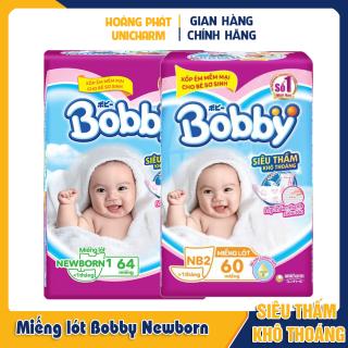 Miếng lót dành cho trẻ sơ sinh Bobby Newborn 1 và 2 108 miếng, 64 miếng và 60 miếng thumbnail