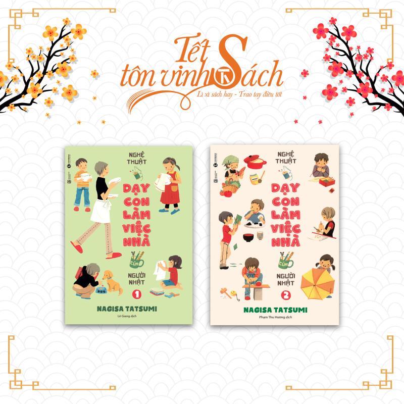 [TẾT SÁCH] - Bộ sách Nghệ thuật dạy con làm việc nhà của người Nhật - THÁI HÀ BOOKS