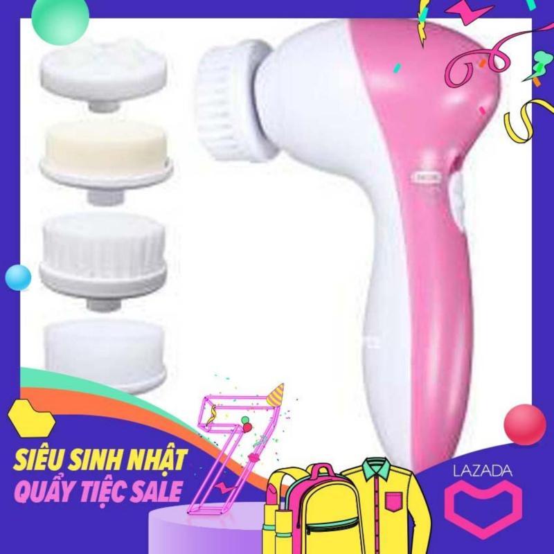 Máy rửa mặt dùng cho spa, Máy rửa mặt massage 5 trong 1 beauty care massager. Hàng nhập khẩu nguyên chiếc. HOT SALE 50%