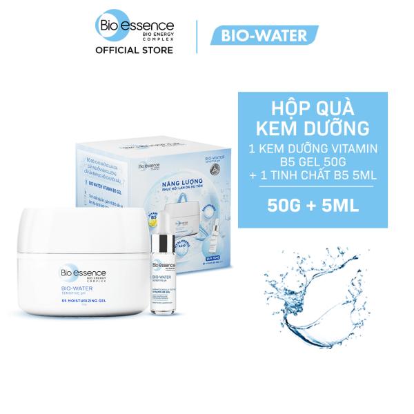 Hộp quà Dưỡng chất phục hồi và Cấp ẩm Bio-Essence (Kem dưỡng Vitamin B5 Gel 50g  + Tinh chất B5 Minisize 5ml)