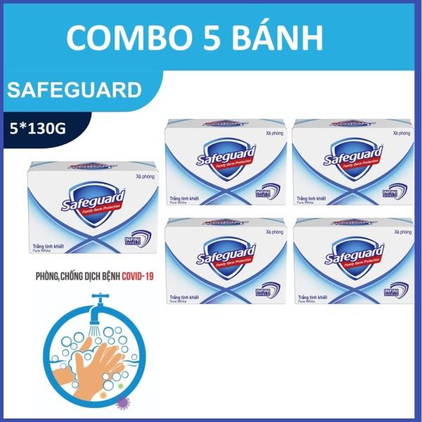COMBO 5 Safeguard Trắng 130G