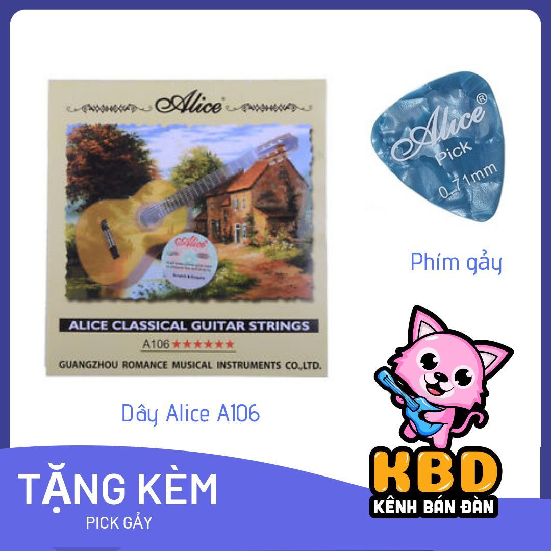 Giảm Giá Quá Đã Phải Mua Ngay [SIÊU KHUYẾN MÃI] Dây đàn Cổ điển Guitar Acoustic/ Classic (siêu Bền , Siêu Xịn) + TẶNG KÈM Pick Gãy Alice