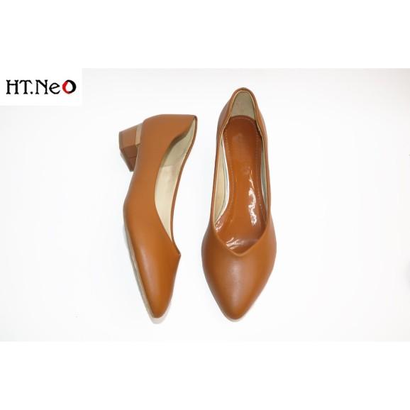 Giày Công Sở Nữ Da Bò 3P Gót Vuông Cực Êm Chân Dễ Sử Dụng HT.NEO (Cs010-Vb) giá rẻ