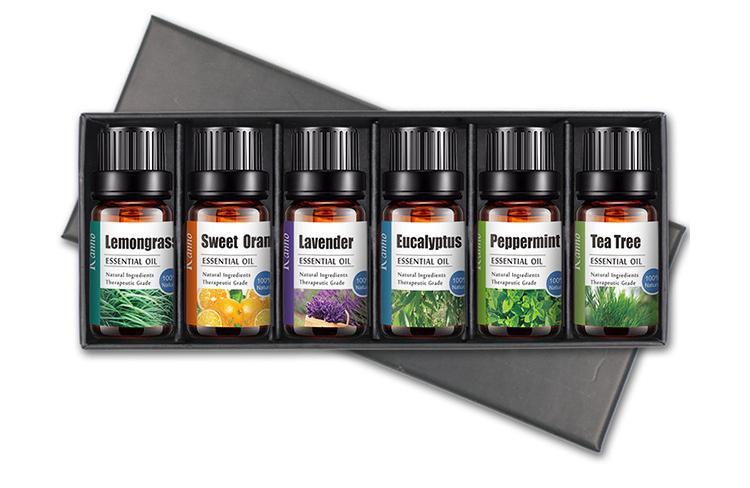 Bộ 6 chai tinh dầu thiên nhiên đa công dụng(Sả chanh, cam ngọt, lavender, bạc hà, trà xanh, khuynh điệp)