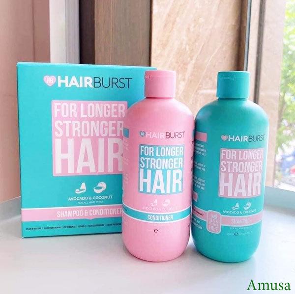 Combo 2 Set gội xả HAIRBURST kích thích tóc mọc dài hơn chắc khỏe hơn 350ml/chai