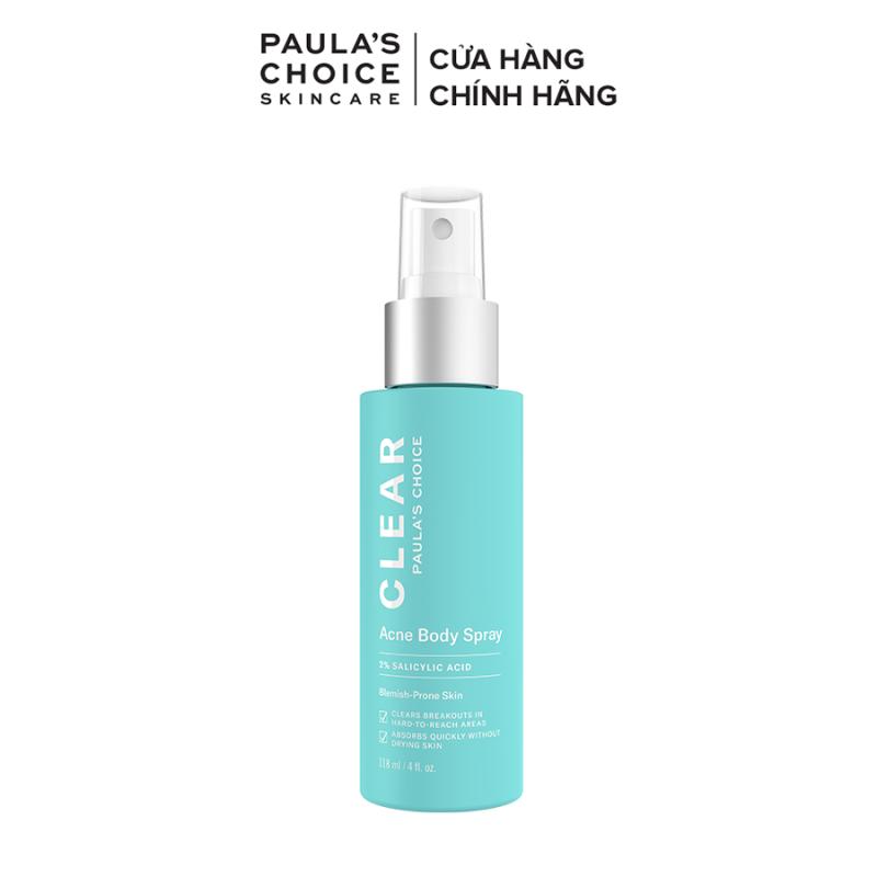 Xịt mụn dành cho cơ thể Paulas Choice Clear Acne Body Spray 118ml Mã 6240
