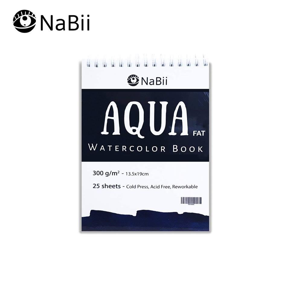 Mua Sổ vẽ Màu Nước Nabii Aqua Fat 300gsm size A4 (25 tờ) 19x27cm