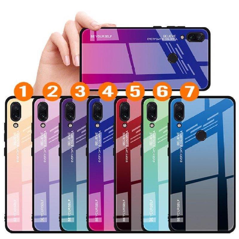 Giá {7 MÀU} Ốp lưng cho Xiaomi Redmi Note 7 gương cứng 2 màu Ver 2 , viền TPU dẻo đen