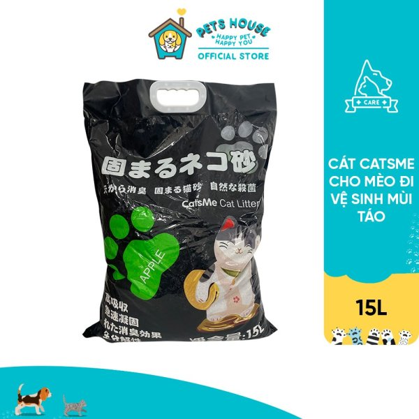 Cát Catsme cho mèo đi vệ sinh mùi Táo 15L