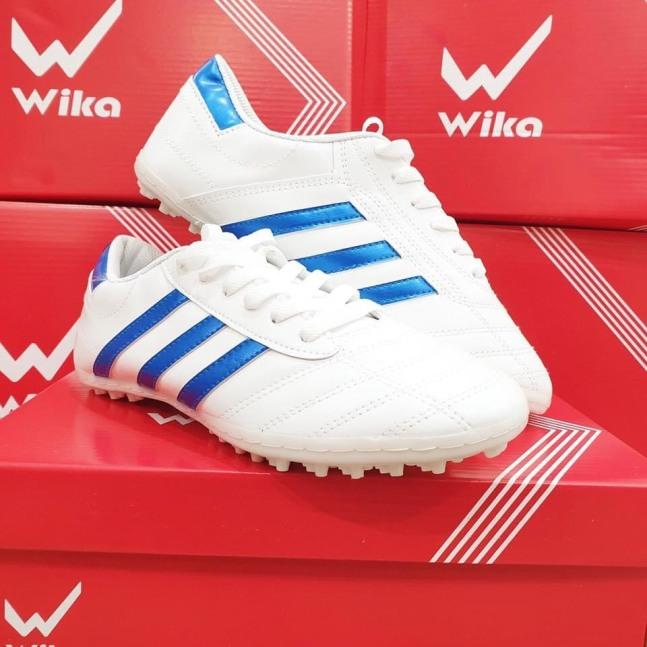 Giầy bóng đá phủi WIKA 3 sọc CT3 đế thấp TF ( giầy đá bóng đá banh 3 sọc sân cỏ nhân tạo WIKA ba sọc ) giá rẻ