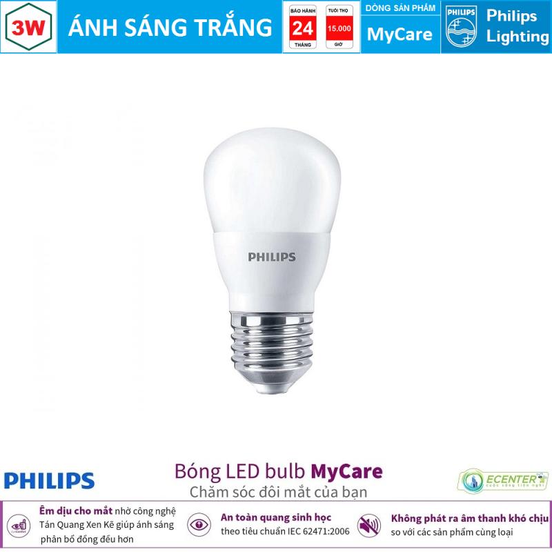 Bóng Philips LEDBulb MyCare 3W 6500K/3000K P45 E27 ( Ánh Sáng Trắng & Vàng )
