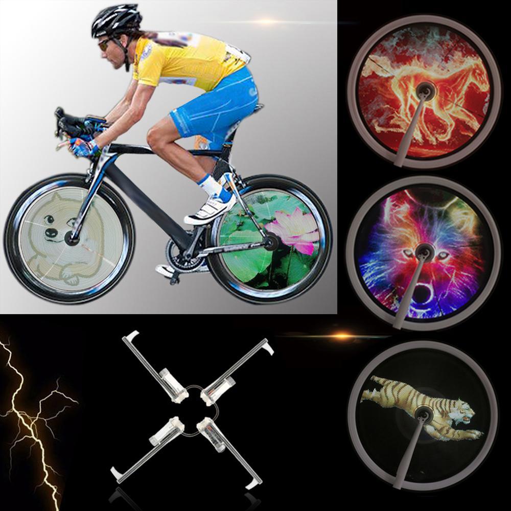 Đèn LED bánh xe đạp cài hình video tùy ý FH 801 PRO