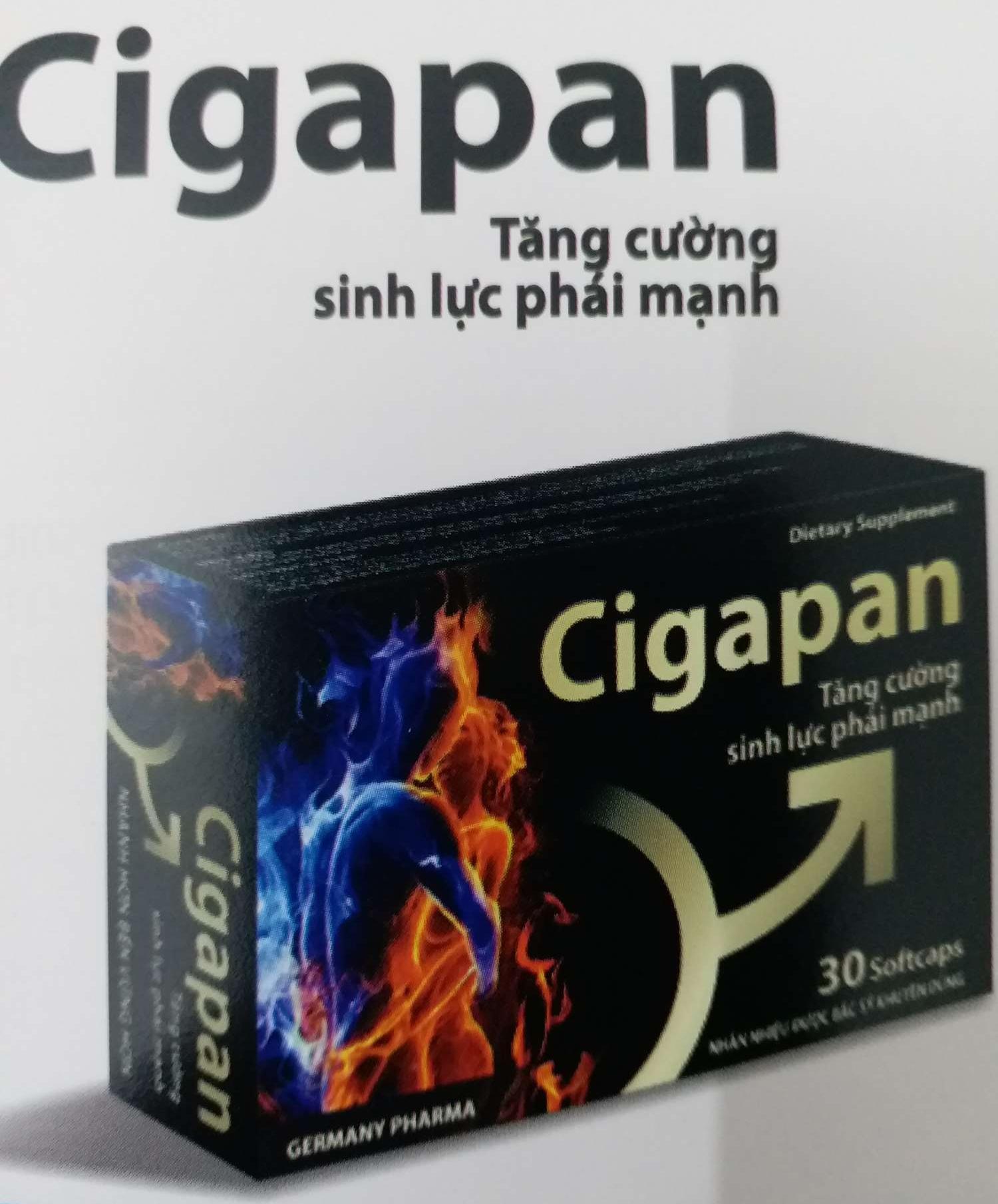 Viên uống Cigapan tăng cường sinh lực phái mạnh hộp 30v