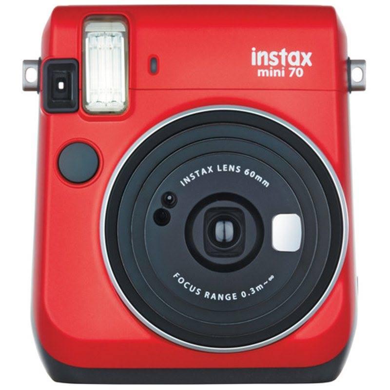 Mã Khuyến Mại Khi Mua Máy Chụp ảnh Lấy Ngay Fujifilm Instax Mini 70 Màu Đỏ  Tặng Kèm 10 Tấm Film Instax Mini