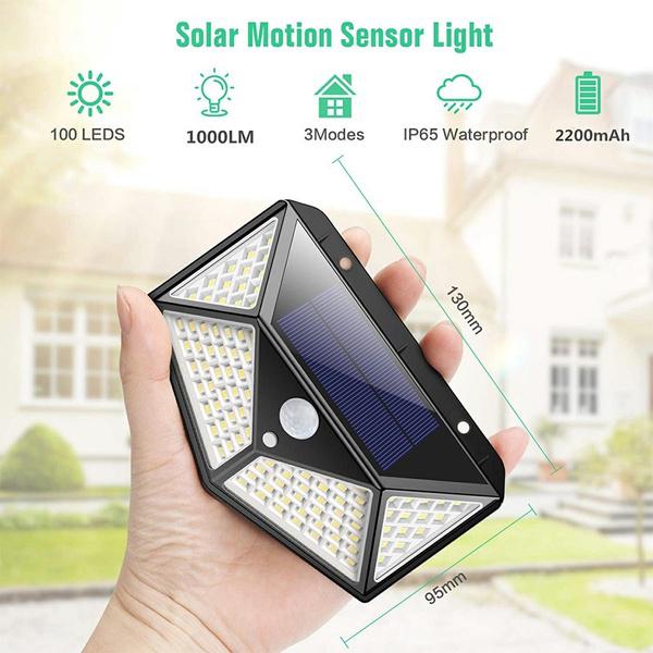 Đèn Led năng lượng mặt trời Solar CL100, kháng nước IP65, cảm biến chuyển động
