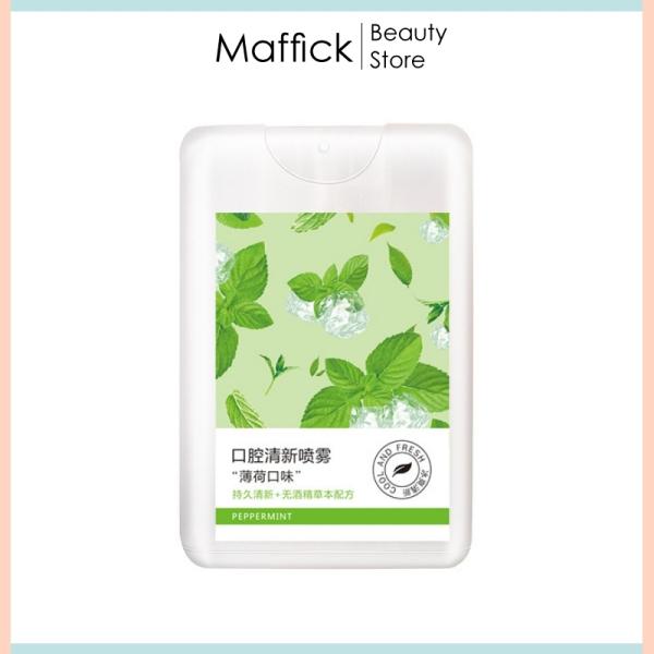 Xịt thơm miệng Heyxi vị bạc hà thơm mát kháng khuẩn, khử mùi hôi, chăm sóc răng miệng HXTM2 Maffick nhập khẩu
