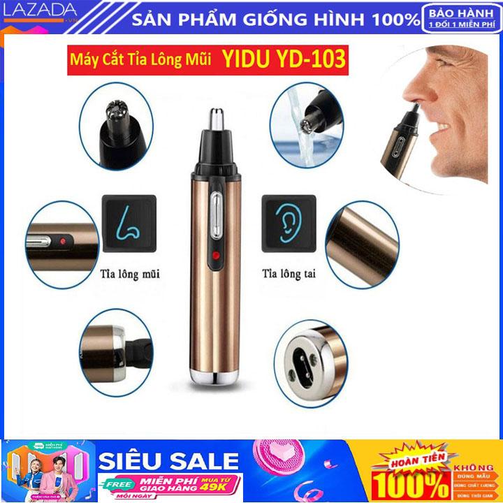 [Siêu Giảm Giá] Máy tỉa lông mũi - Dùng pin, hàng tiện dụng-Máy tỉa lông mũi-tỉa lông mũi, tỉa lông tai - Chất liệu Vỏ ngoài làm bằng nhựa cao cấp, lưỡi dao kép làm bằng thép không gỉ-Máy cắt tỉa lông mũi Yidu 103 thế hệ mới 2021