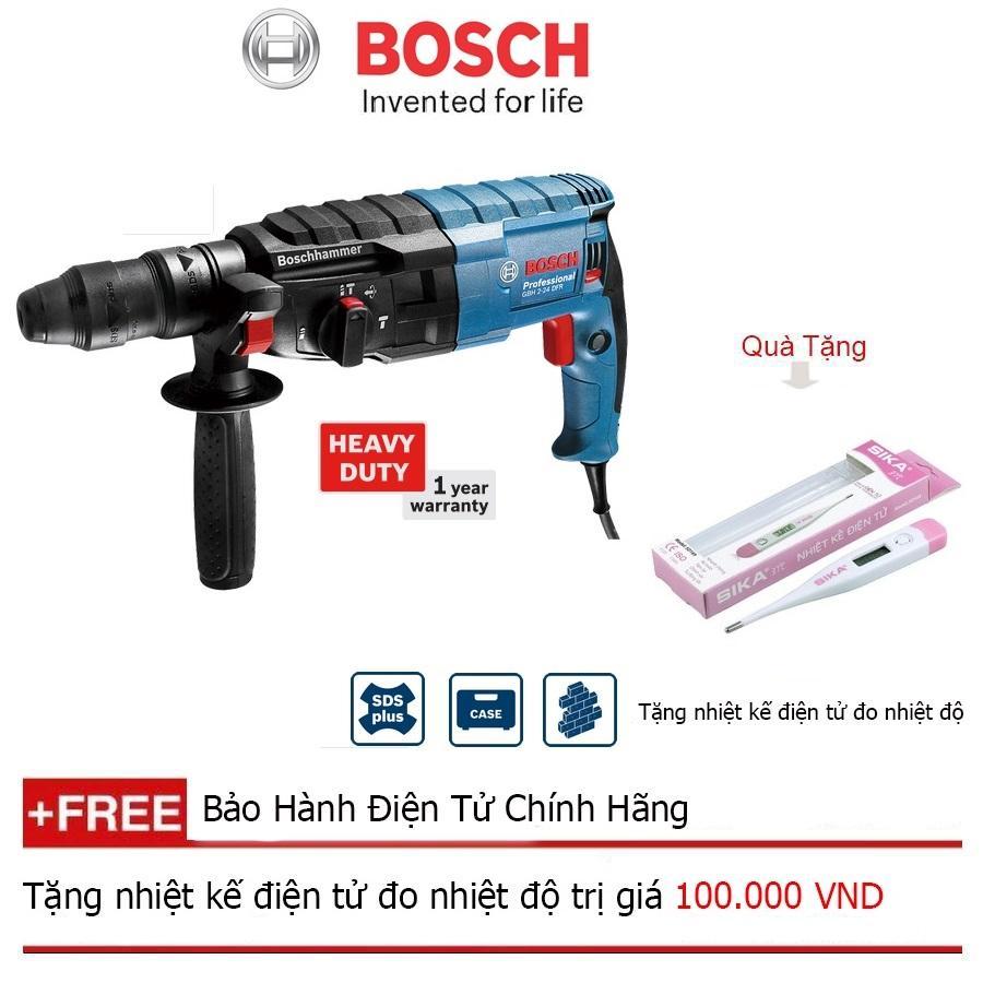 Máy khoan bê tông Bosch GBH 2-24 DFR + Quà tặng nhiệt kế điện tử