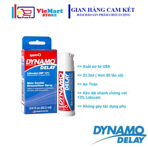 [ Xịt Dynamo ] Xịt Dynamo delay 22.2ml - Kéo dài thời gian quan hệ