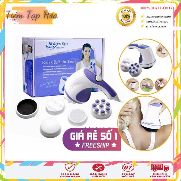 [SIÊU SALE] Máy Massage Cầm Tay Trị Liệu Relax & Spin Tone, Giúp Trị Liệu Đau Mỏi Vai Gáy, Tan Mỡ Bụng, Thư Giãn Mệt Mỏi nhập khẩu