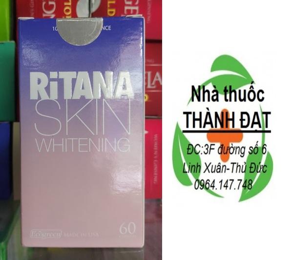 Viên Uống Trắng Da RITANA – Giúp da trắng sáng, mờ nám, thâm sạm Hộp 60 Viên nhập khẩu