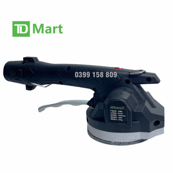 Máy ốp lát gạch dùng pin RtonX  2 Chức Năng - Đầm Rung Hít Gạch 6 Cấp Độ
