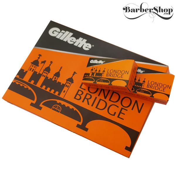 [ CHÍNH HÃNG ] Dao lam Gillette London  Hộp 5 Lưỡi - Lưỡi lẻ giá rẻ