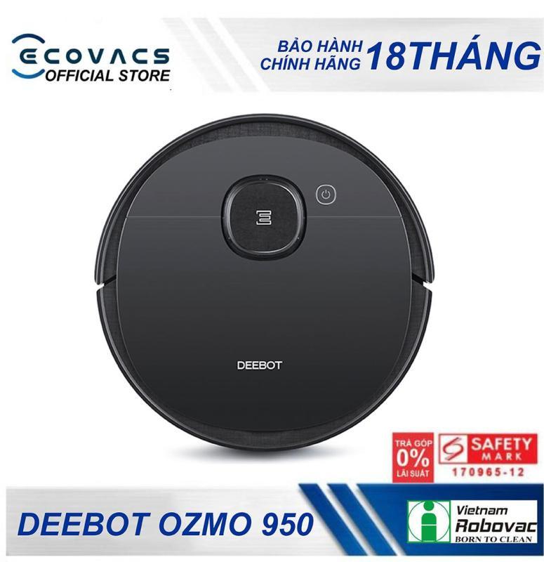 Robot hút bụi - lau nhà thông minh Ecovacs Deebot OZMO 950 - Bảo hành 18 tháng - Dung lượng pin 5200mah