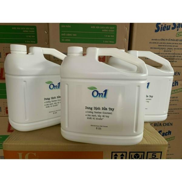Nước Rửa Tay Khô On1 Sạch Khuẩn đến 99% -(Hương FRESH SAKURA)can 5L-chung tay chống dịch giá rẻ
