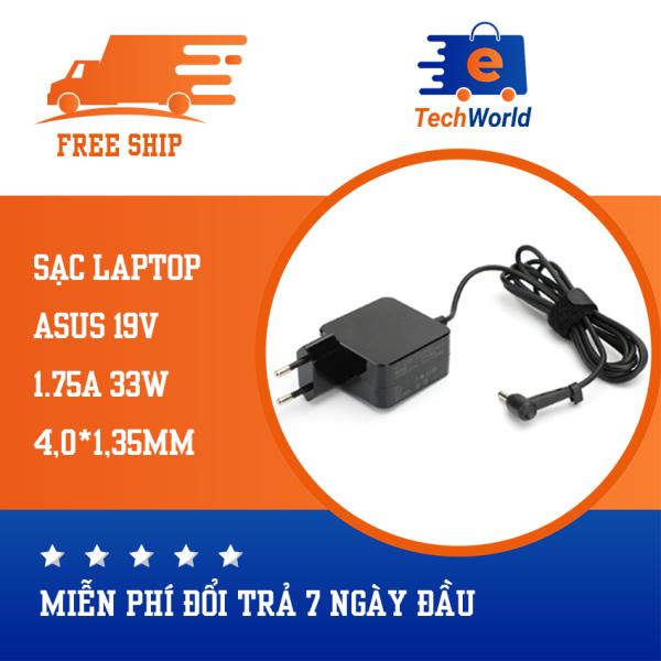 Bảng giá Sạc laptop dùng cho Asus F201E Q200E S200E X200E X201E X202E, hình vuông 19V1.75A 33W kích thước chân sạc 4.0mm * 1.35mm Phong Vũ