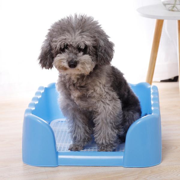 [FREESHIP] Khay vệ sinh cho chó thành cao, khay vệ sinh chó 3 kích cỡ, nhựa cứng và bền, sạch sẽ tiện dụng-supet