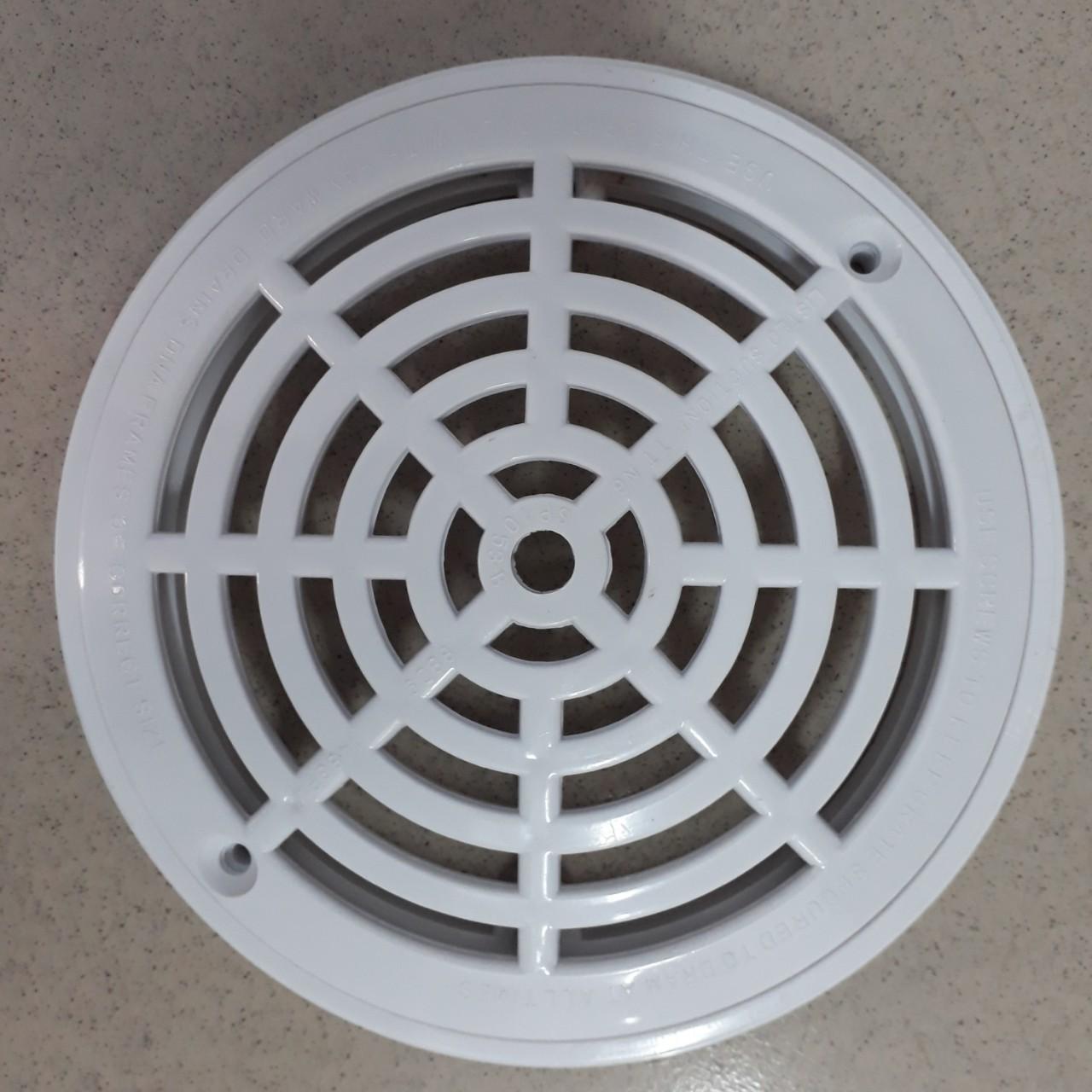 Nắp thu nước đáy hồ bơi hình tròn nhựa tốt ABS