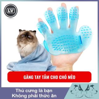 Găng tay tắm và chải lông chó mèo cỡ nhỏ thumbnail