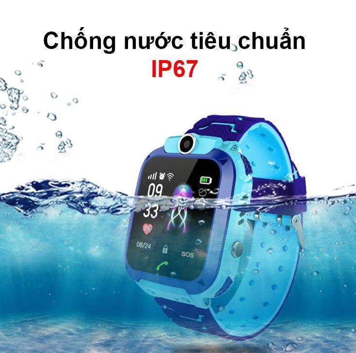 Đồng Hồ Định Vị Trẻ Em - Đồng Hồ Thông Minh Chống Nước IP67 - Camera Nghe Gọi 2 Chiều, Có Chức Năng Gọi Khẩn Cấp SOS - Màu Xanh, Hồng