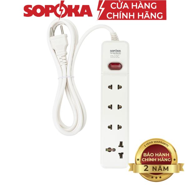 Ổ cắm điện liền dây chịu tải 2200W SOPOKA 3M2-6M2 dây 2,5 mét công tắc an toàn