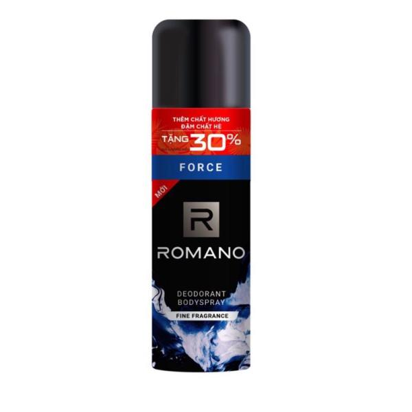 Xịt khử mùi toàn thân cho nam Romano Force tặng dung tích chai 195ml giá rẻ
