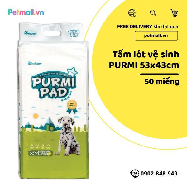 Tấm lót vệ sinh cho Chó PURMI 53cm x 43cm - 50 tấm nhập Hàn Quốc