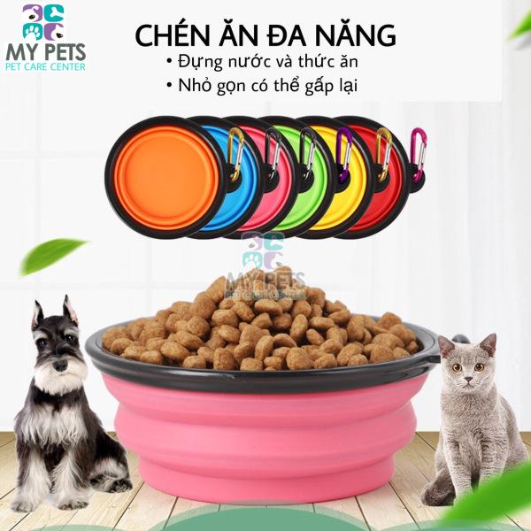 Bát Ăn Gấp Gọn Tiện Dụng Cho Chó Mèo, Thích hợp mang đi xa