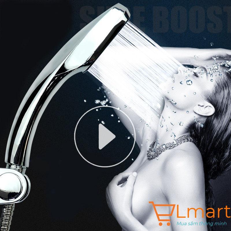 Bát sen tắm tăng áp gấp 3 lần với 300 lỗi phun chịu nhiệt nóng lạnh chất liệu mạ Crom&Niken