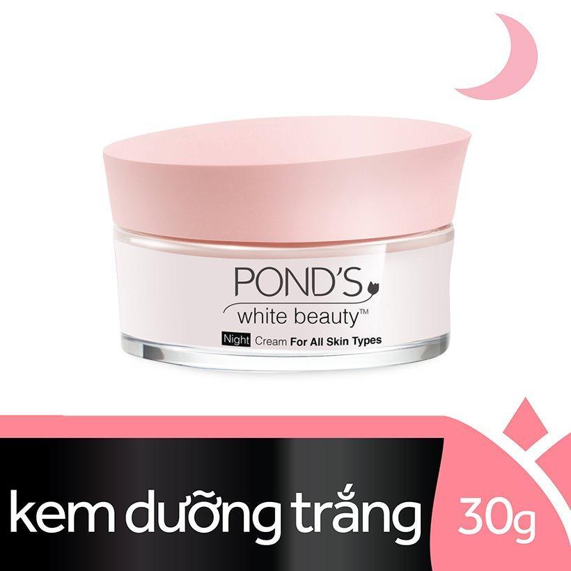 [HSD 06/2020] Kem Dưỡng Da Trắng Hồng Tinh khiết Ponds White Beauty Ban Đêm (30g)