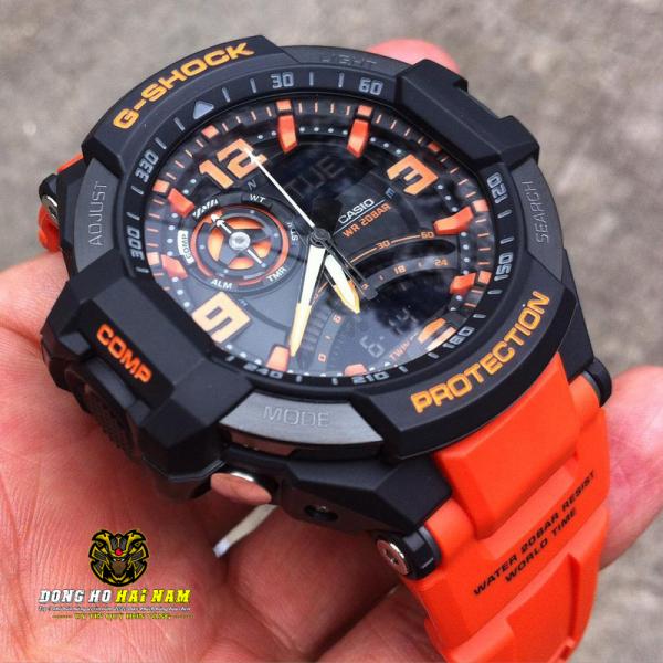 Đồng hồ thể thao nam G-SHOCK GA-1000-4A + REP 11 + Dây cao su DÂY CAM MẶT ĐEN + Bảo hành 2 năm + FULL BOX + ĐỒNG HỒ HẢI NAM bán chạy