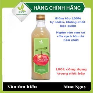 Giấm táo tự nhiên Viet Healthy 500ml- Dấm táo nguyên chất viethealthy có tác dụng rửa sạch tồn dư hóa chất, làm giảm ợ nóng trào ngược dạ dày, sỏi thận, ổn định đường huyết, giảm cân an toàn- Dấm táo VietHealthy tinh khiết, nguyên chất thumbnail