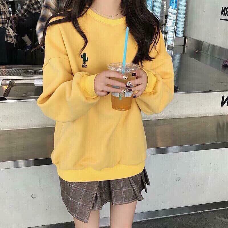 Áo Hoodie nữ THÊU HÌNH tay dài thời trang cao cấp Lylyfashion (3 MÀU)