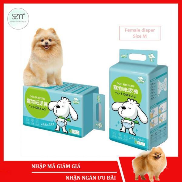 Bỉm quần cho chó mèo cái (Female) Sumiho size M 14 cái dành cho chó 3-8Kg, eo 43.5cm x 22cm