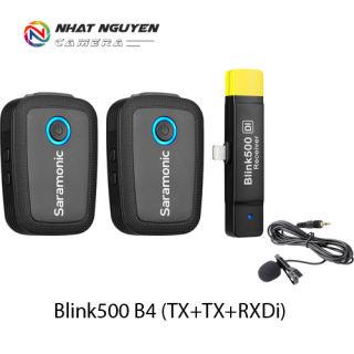 Micro Saramonic Blink500 B4 (TX+TX+RXDi) cổng Lightning iOS - Saramonic B4 Blink 500 - Bảo hành 12 tháng